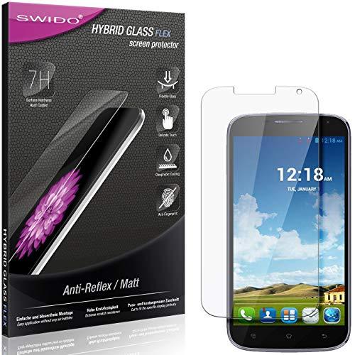 SWIDO Panzerglas Schutzfolie kompatibel mit Haier Phone W867 Bildschirmschutz Folie & Glas = biegsames HYBRIDGLAS, splitterfrei, MATT, Anti-Reflex - entspiegelnd