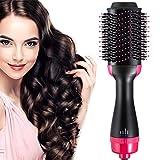 Hot Air Hair Dryer Brush Blow Dryer and Volumizer Styling Brushes 4 in 1 Hair Blower Brush withIronGeneratorandCeramicCoating for HairDrying,StraightenerandCurling