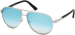 Swarovski Aviator Sunglasses for Women - Blue lens, SK0078-16V (SK0078_32P_59)