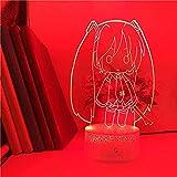 GEZHF Lámpara LED de ilusión 3D para linda lámpara de los niños de Hatsune Miku la lámpara de anime japonesa ideal para niñas hermosa