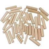 UBERMing 500 Pcs Tasselli in Legno Assortiti Spine legno 6mm 8mm 10mm Scanalate in Legno Duro Perno Scanalato M6 M8 M10 per Mobili Porte e Progetti Artistici
