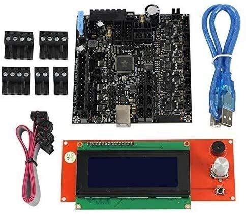 FORETTY DIANLU43 3D Printer Rambo 1.4 Motherboard Integrated Board +2004LCD Screen Main Control Board Kit for Lulzbot Taz6 Stable Performance