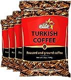 Elite Roasted & Ground Turkish Coffee 3.5oz Bag (4 Pack)