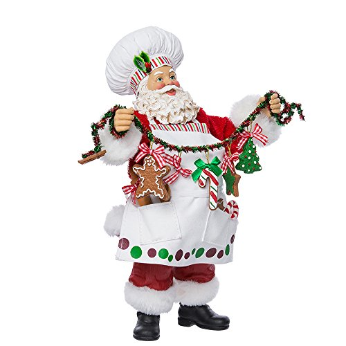 Kurt Adler Fabriche Weihnachtsmann als Koch, Figur, 30,48cm