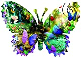 Forest Butterfly 1000 pc Shaped Jigsaw Puzzle by SunsOut 1000 Piece Jigsaw Puzzle - Completed Size: Shaped 25x35 Puzzle Artist: Alixandra Mullins Eco-Friendly - Soy-Based Inks - Recycled Board - Proudly Made in the USA Interlocking Pieces & Durable C...