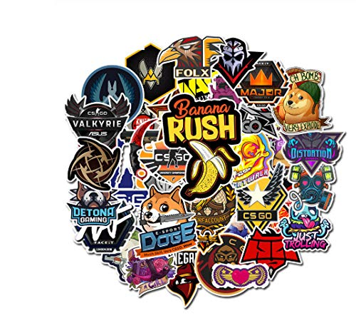Votgl Sticker 50 STKS CS GO Stickers Motorfiets Anime Game Sticker Voor Kinderen Laptop Grappige Graffiti Mix Retro PVC Waterdichte Sticker
