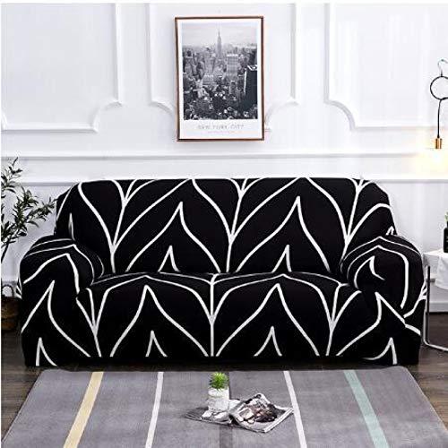 NOBCE Funda de sofá elástica geométrica para Sala de Estar, sofá de Esquina seccional Moderno, Funda de sofá, Protector de Silla, 1/2/3/4 plazas 235-300CM