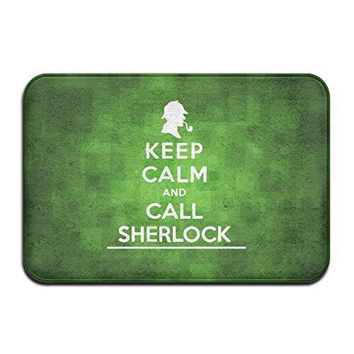Klotr Tapis De Bain, Keep Calm and Call Sherlock Holmes Door Mats Outdoor Mats