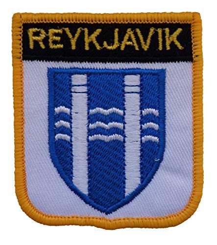 1000 Flaggen Reykjavik Island Schild Bestickt Patch Badge