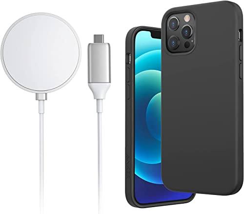high quality Anker iPhone 12/12 Pro Magnetic Silicone Case, 6.1 Inches (Dark Gray) 2021 & high quality Anker Wireless Charger sale