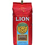 Lion Coffee, Premium Gold Roast, 10% Kona Coffee Blend, Whole Bean, 24 Ounce Bag