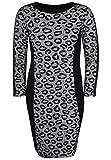 Doris Streich Damen Kleid mit Mustermix Glitzereffekt