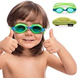 Elimoons Kids Swim Goggles, 2-Pack Wide Vision...