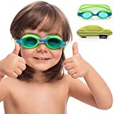 Kids Swim Goggles || Swimming Goggles for Kids (Age 2-8 Years Old) with Fun Car Hardcase for Easy Transportation || Cushioned Frames || Anti Fog Lenses || UV Protection ||