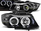 Shop Import - Coppia di fari - Serie 3 E90/E91 05-08 Angel Eyes Nero (M76)