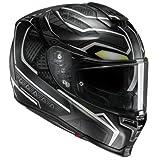 HJC Casque Moto RPHA 70 Black Panther MC5Sf, Noir/Blanc, Taille M