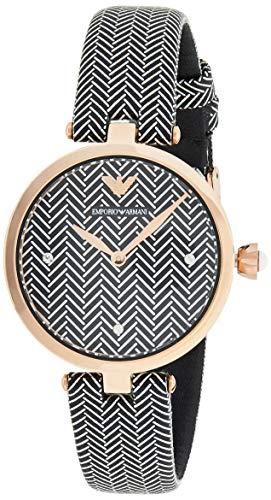 Emporio Armani Reloj Analogico para Mujer de Cuarzo con Correa en Piel AR11237