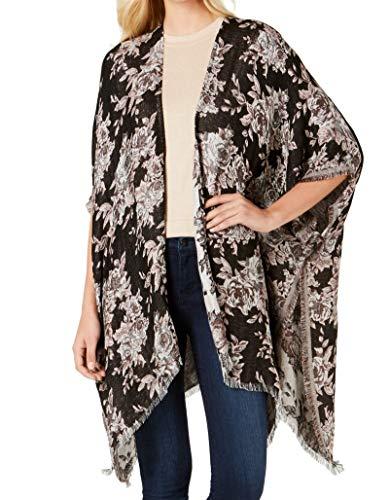 I-N-C Chaqueta de abrigo de jacquard metálico para mujer - gris - Talla única