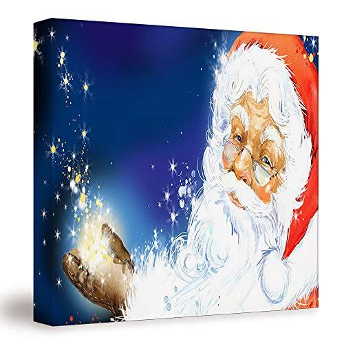SUPNON Watercolor Santa Claus/Canvas Wall Art, Mordern Home Decoration 12'x12' №SW158572