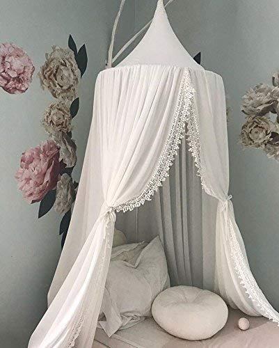 Betthimmel Lace Spitze, Himmel über Kinderbett Baldachin Princess Bed Canopy