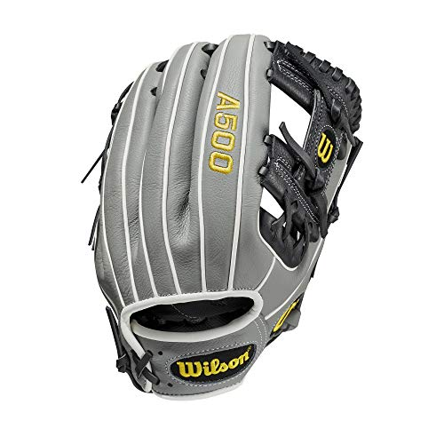 """""""Wilson A500 Youth Baseball 11"""""""" - Right Hand Throw,11"""""""", Yellow, Large (WBW10014411)"""", black"""