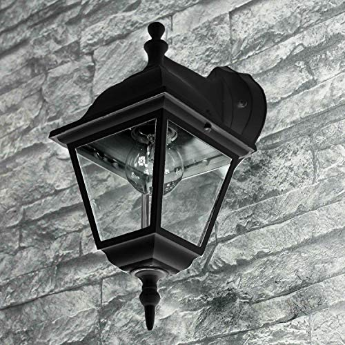 *Rustikale Wandleuchte in schwarz inkl. 1x 12W E27 LED Wandlampe aus Aluminium für Garten Terrasse Weg Lampen Leuchte außen Beleuchtung*