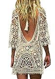 Davicher Copricostume da Bagno Donna Bikini Costumi Uncinetto Cavo Coprire Spiaggia Scava Fuori Il Vestito da Spiaggia Abito in Estate Abito da Spiaggia
