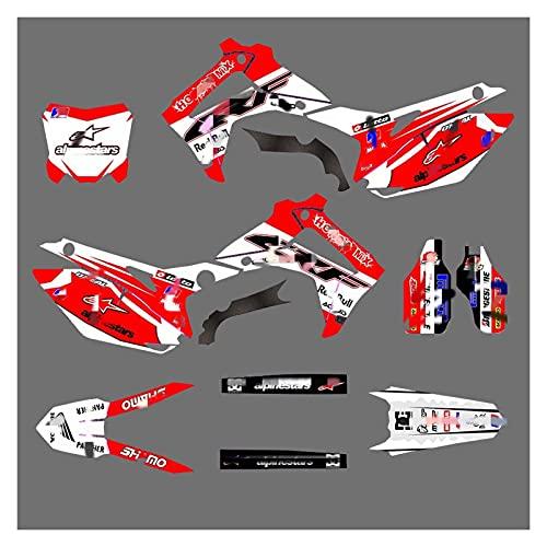 Lhtyouting HM3099-3149 Calcomanías de Motocicleta 3M Personalizadas Pegatinas Gráficos Gráficos Kit de decancia gráfica para Honda CRF250R 2014 2015 2016 2017 2017 zxlyt (Color : 16)