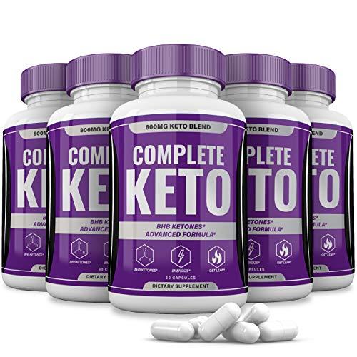 (5 Pack) Complete Keto Pills 800mg, Keto Complete Diet Pills Capsules BHB Supplement, Complete Ketogenic Diet for Beginners, BHB Ketones Slim Pills for Energy, Focus - Exogenous Ketones for Men Women