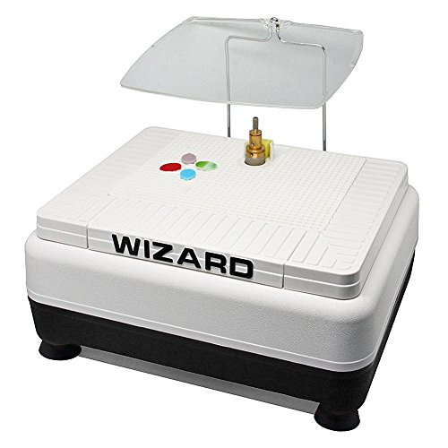Inland Craft Wizard IV Stained Glass Grinder | Glass Art Grinding Shaping Machine | Includes Two Diamond Grinding Bits