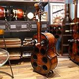 Homezone Neuheit Zylinder Musikalisches Violoncello Gitarre Kontrabass Thema Wein...