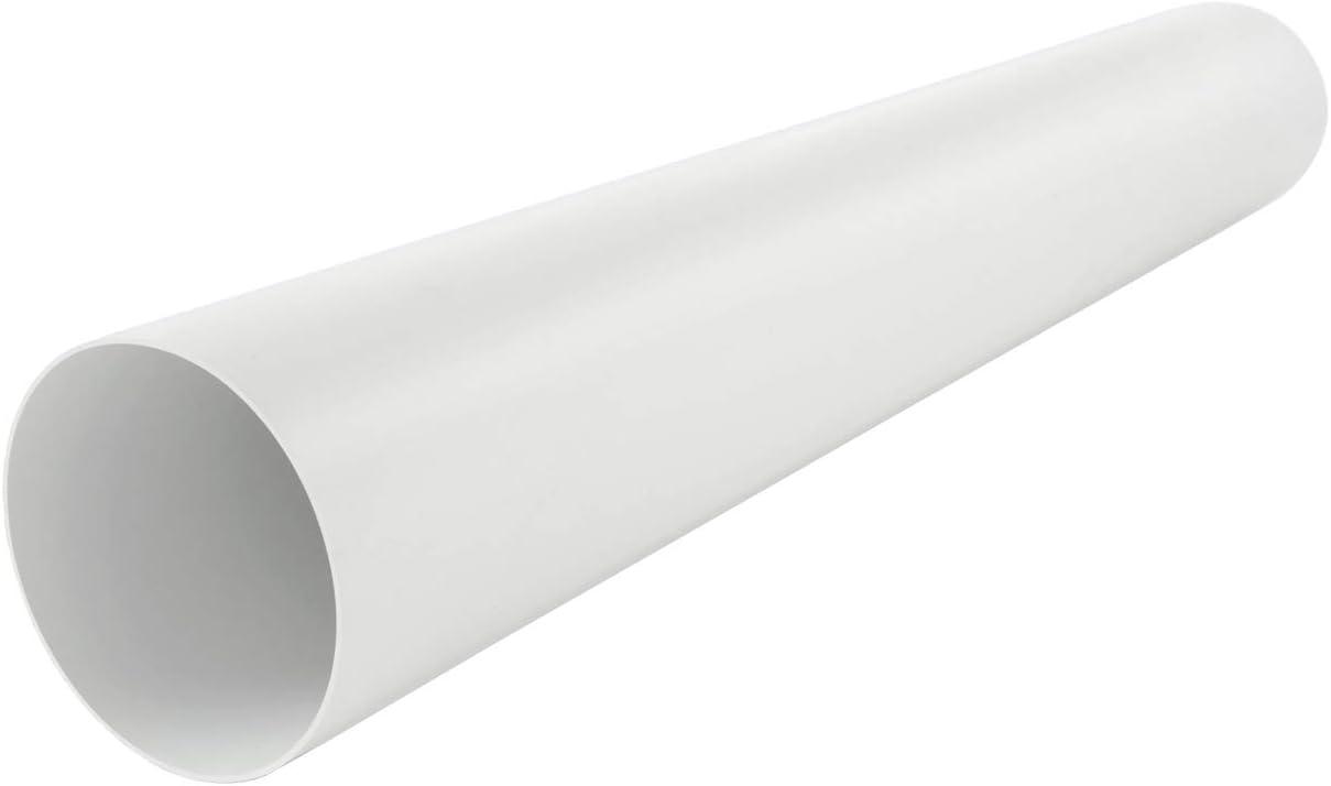 La Ventilazione CTR1150B Tubo de ventilación canalizado Redondo de PVC, diámetro Interior, Color blanco, ø 150 mm