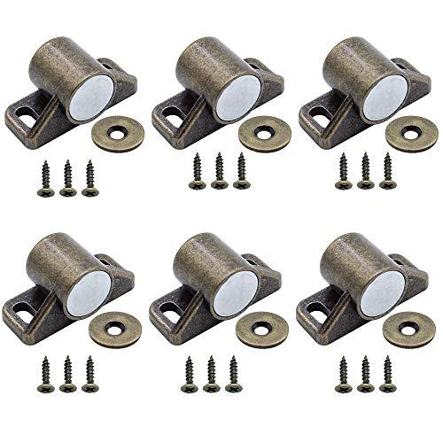 6 Stück Magnetverschluss Schrank,Möbelmagnet Haltemagnet Türschnäpper,mit Schraubenmagneten Türschließer, Verschlüsse Magnetverschluss, für Kleiderschränke Schubladen Schranktüren
