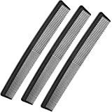 Best Barber Combs - 3 Pack Black Carbon Barber Comb,Hairdressing StylingCombs,Heat Resistant Review
