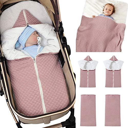 Baby Wrap Swaddle Manta de Punto Saco de Dormir Saco de Dormir Cochecito de Abrigo Suave Y Cálido para 0-12 Meses Bebés Unisex