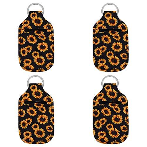 HEALLILY Botellas de Viaje Llaveros 4 Piezas de Seguridad Vacías Llaveros Envases Recargables para Jabón Loción Líquidos