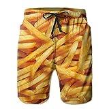 Pantaloncini da Spiaggia Estivi alla Moda da con Patatine Fritte Pantaloncini Pantaloncini da Bagno Pantaloni Cargo