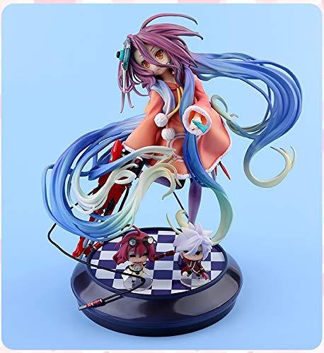 Knmbmg No Game No Life-Zero: Shuvi/Schwi PVC Actionfiguren, Anime Mechanische Hübsches Mädchen Handgemachte PVC Modell, Computer Desktop Dekoration Ornamente Weihnachten Hohe 22 cm, Box