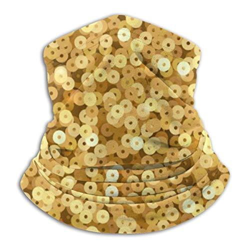 YudoHong Kopfbedeckung Gold Schimmer Pailletten Disco Party 10