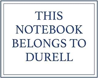 This Notebook Belongs to Durell