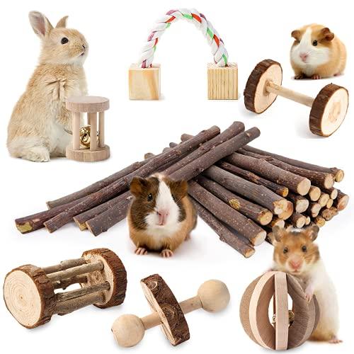 JanYoo Bunny ChewToys for Rabbits Teeth Hamster...