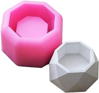 wonderfulwu Creative Geometric Polygonal Concrete Flower Pot Vase Mould Office Decoration DIY Clay Cementsilica Silicone Mold