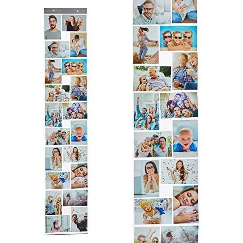 Fotohalter Fotowand Kunststoff Fototaschen (20 Fotos Quer- u. Hochformat 10 x 15 cm)