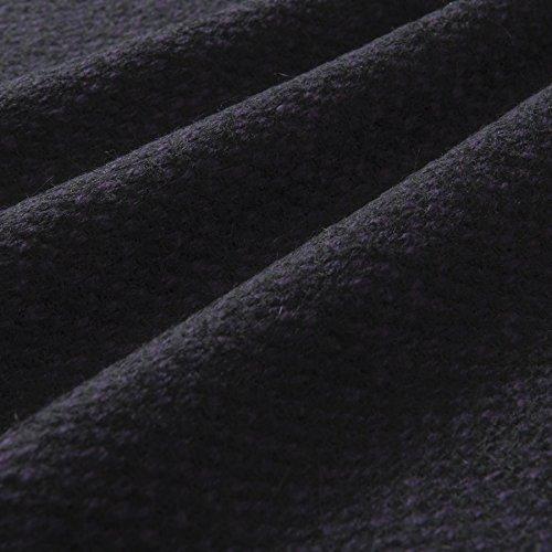MIRABLAU DESIGN Stoffverkauf Wollstoff Panama schwarz lila Gemustert (17-044M) 0,5m