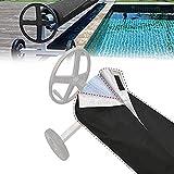 Cubierta Protectora de Carrete Solar para Piscina, Carrete Solar y Manta, Solar Cubierta de Enrollador,el Carrete del Cable de la Piscina Puede Extender la Vida útil de la Cubierta