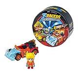 T-RACERS Serie 1 – Coche y piloto sorpresa coleccionable. Coche desmontable por partes y con piezas intercambiables