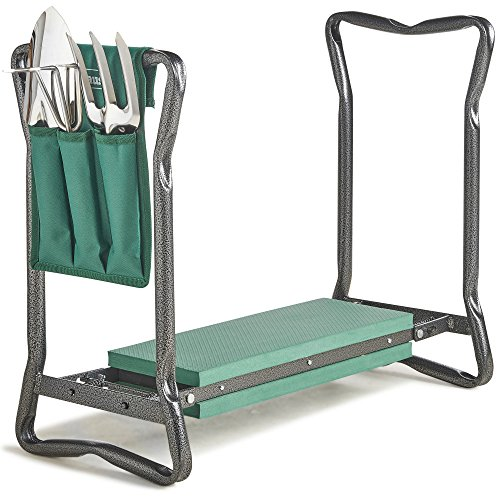 VonHaus 2-in-1 Portable Folding Garden Kneeler Bench and Seat...