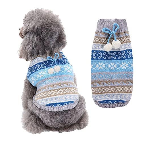 Poseca Mascota Cachorro Gato Perro Jersey suéter Prendas de Punto Abrigo Ropa suéteres de Invierno para Perros pequeños medianos Grandes