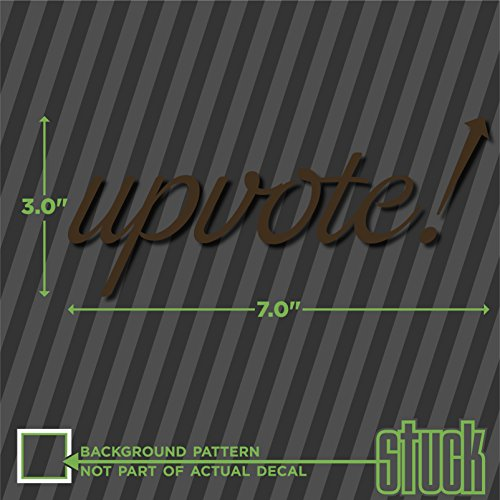 Upvote ! - 7' x 3' - vinyl decal sticker reddit karma meme funny arrow up vote