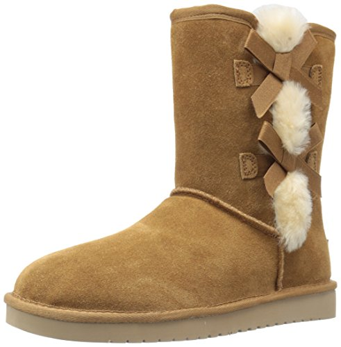 Koolaburra by UGG womens Victoria Short Fashion Boot, Chestnut, 9 US